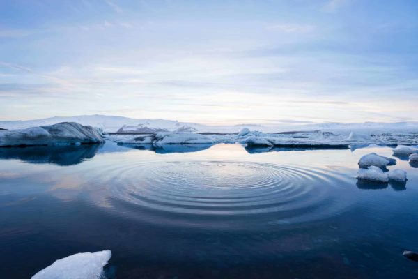 ice water ocean ripple