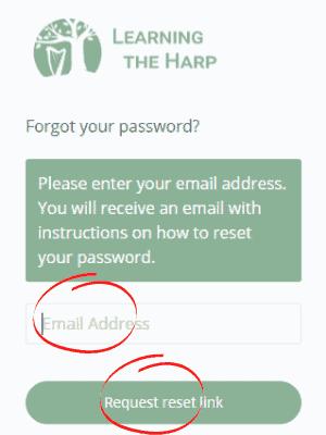 Reset Password Request link